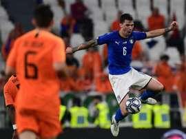 Romagnoli es una de las piezas clave del Milan en defensa. AFP