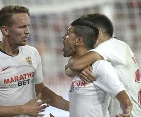 Nolito is still at Sevilla because of coach Lopetegui. AFP