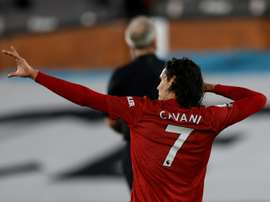 Edinson Cavani has impressed since joining Man Utd in the summer. AFP