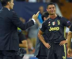 Cristiano protagonizó la expulsión más histérica que se recuerda. AFP