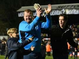 Wayne Shaw deja el Sutton United tras la investigación que está llevando a cabo la FA. EFE/AFP