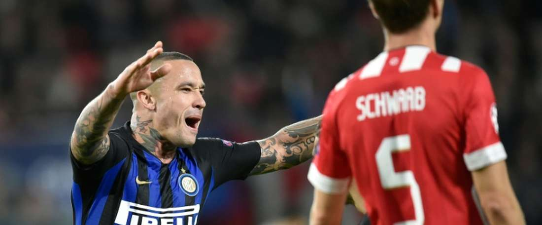 Nainggolan and Icardi scored the decisive goals for Inter. AFP