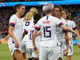 Les compos probables de la demie de Mondial féminin entre l'Angleterre et les USA. AFP