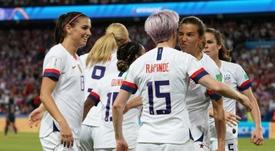 USA's Rapinoe sends USA straight to semi-finals. AFP