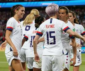 USA's Rapinoe sends USA straight to semi-finals. AFP