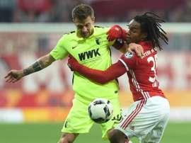 Seis meses depois, Renato Sanches no onze do Bayern para a Bundesliga. AFP