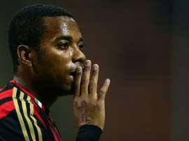 Robinho n'est pas désiré du côté de Sao Paulo. AFP