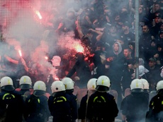 Fans have clashed regularly in Greece. AFP