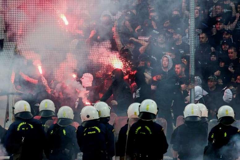 El PAOK y el Spartak, multados. AFP