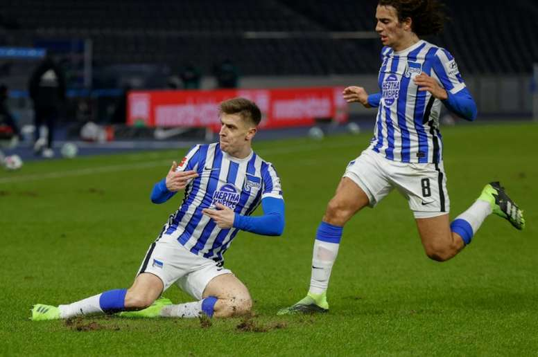 Piatek double for Hertha in Berlin derby ends Union's unbeaten run. AFP