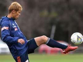 Keisuke Honda was Victory's star player once again. AFP