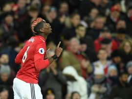 Pogba scored on his return to action for United. AFP