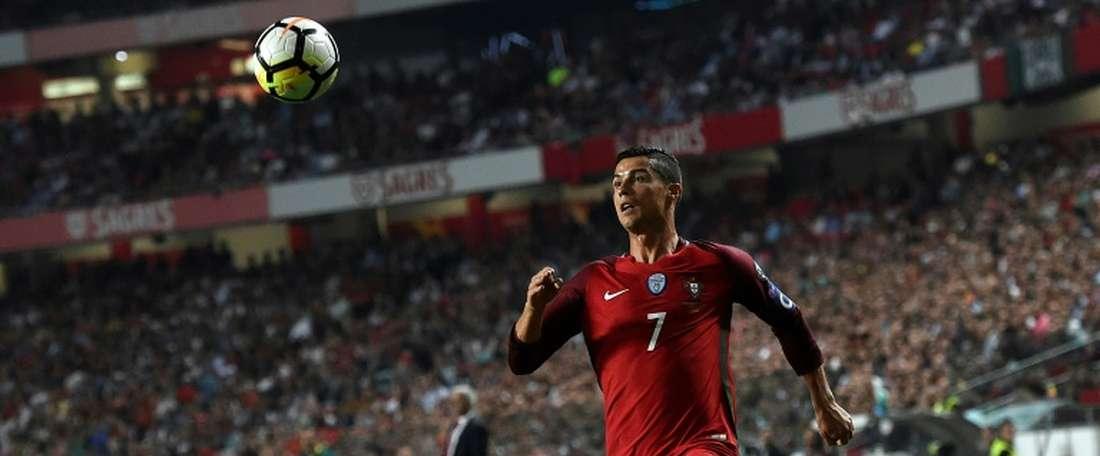Cristiano Ronaldo fait partie de notre onze. AFP