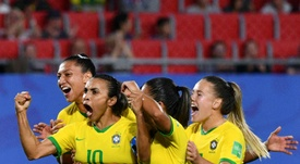 Marta after her goal against Italy. AFP