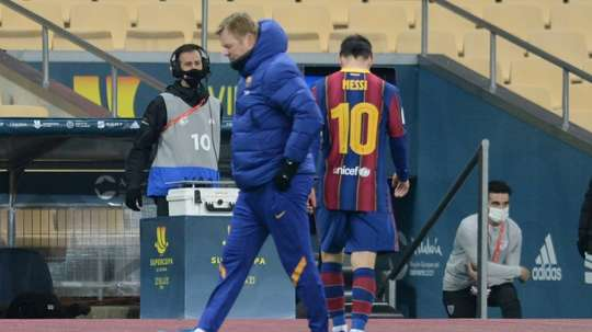 Ronald Koeman can recall Lionel Messi who has served his ban for a red card. AFP