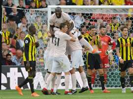 Lukaku scored the opening goal as Manchester United beat Watford on Saturday. AFP