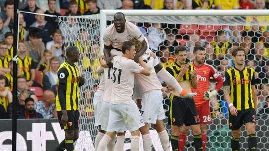 Los 'red devils' se impusieron por 1-2 . AFP