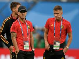 Thorgan would not like to play club football with his brother. AFP