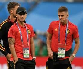 La famille Hazard, une famille foot. AFP
