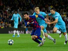 Messi was unable to score against Slavia Prague at Camp Nou. AFP