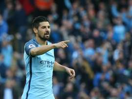 Nolito will join Spanish side Sevilla for £8 million. AFP