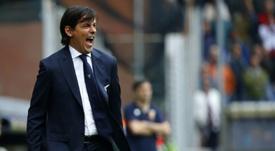 Simone Inzaghi dirige la Lazio desde 2016. AFP