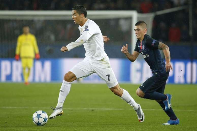 El Madrid-PSG, uno de los platos fuertes. AFP