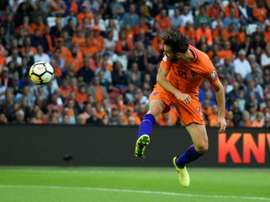 Propper's goals boosted Holland's hopes of making it to next year's World Cup. AFP