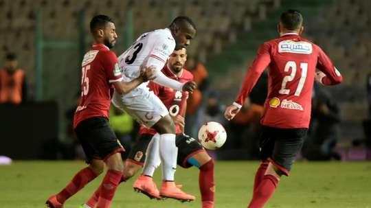 Kasongo scored twice for Zamalek. AFP