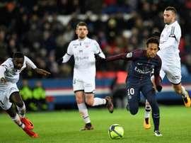 O PSG venceu o Dijon por 8-0. AFP