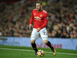 Le futur de Shaw s'éloigne d'Old Trafford. AFP