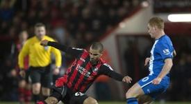 Lewis Grabban podría dejar el Bournemouth en las próximas horas. AFP