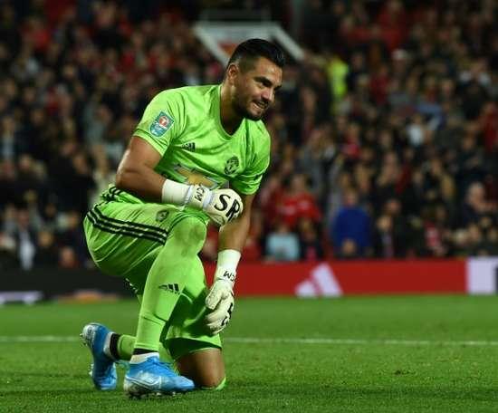 Everton cible Sergio Romero. AFP