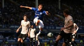 Richarlison participó en el triunfo del Everton. AFP
