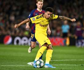 Man Utd would pay 66 million euros for Sancho. AFP