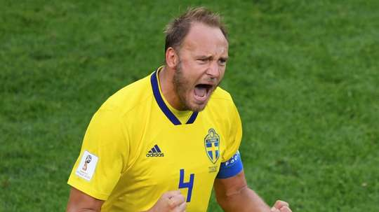 Sweden overcame Switzerland in a 1-0 victory to see them into the quarters. AFP