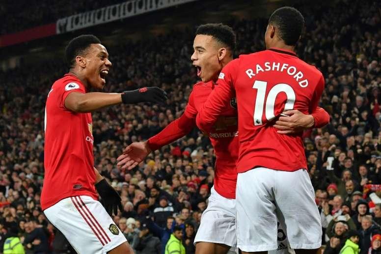 Grealish, Maddison e Sancho, o trio de objetivos do United para o verão. AFP