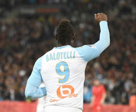 Balotelli didn't score a single goal for Nice. AFP