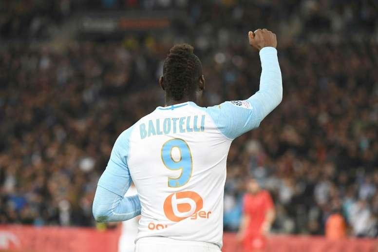 Balotelli nommé joueur du mois de mars. AFP