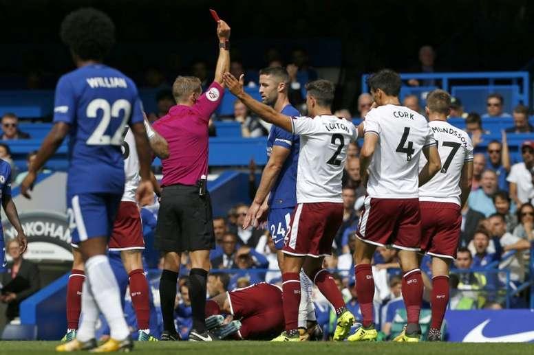 El Chelsea no tuvo su día ante el Burnley. AFP