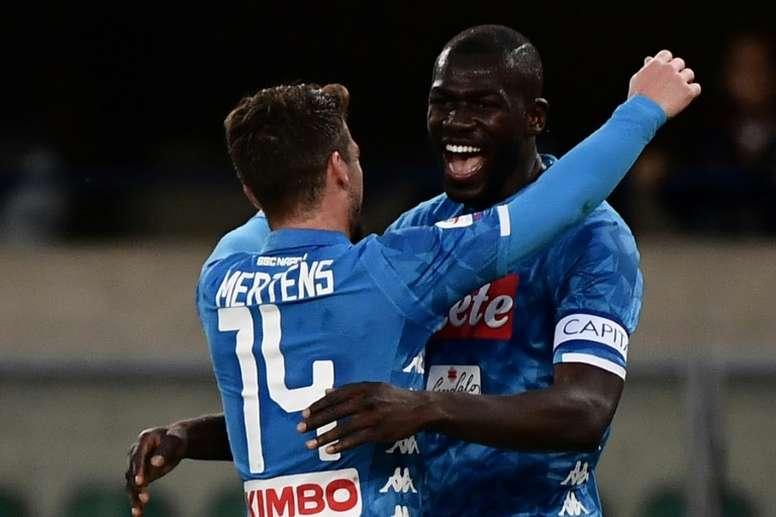 Koulibaly está feliz em Nápoles. AFP