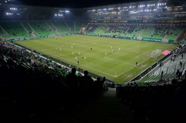 Ferencvaros have been fined and forced to close a section of their stadium. AFP
