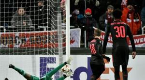 El Arsenal sentencia la serie. AFP