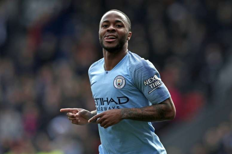 Sterling scored twice in his side's victory over Palace. AFP