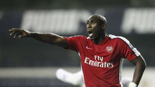 Former Arsenal defender Campbell was unveiled as Macclesfield boss. AFP