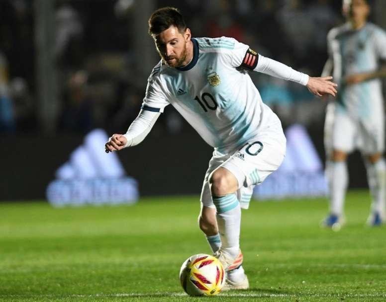 Messi led his side to a comfortable win on Friday night. AFP