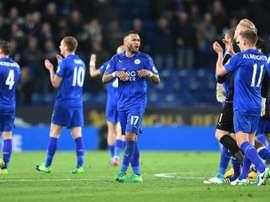 El Leicester pone rumbo a Madrid con dos bajas importantes. AFP