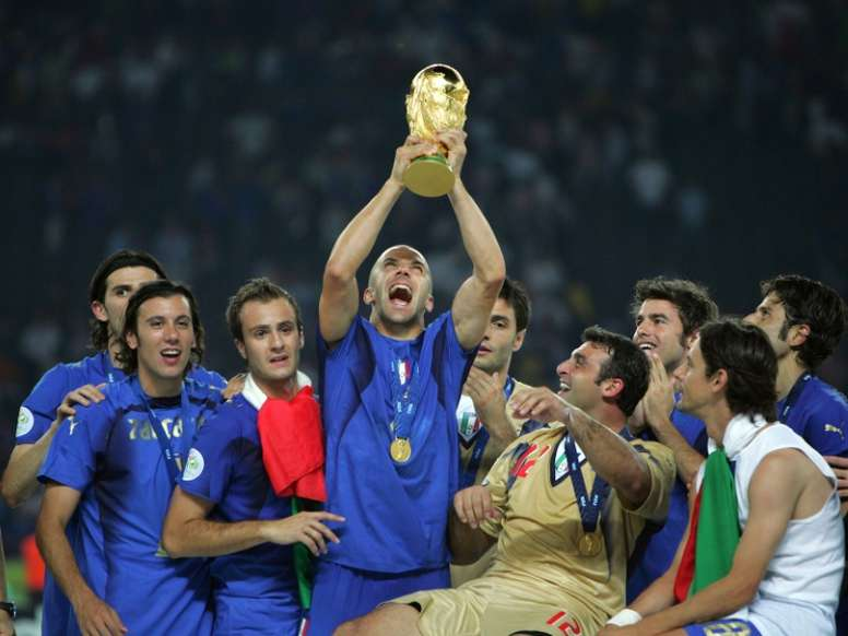 Italy were crowned world champions in 2006. AFP