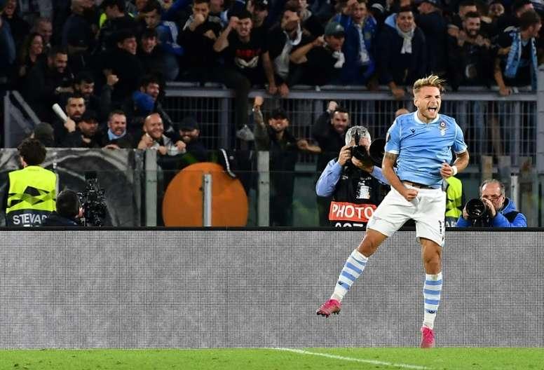 Está impossível parar Ciro Immobile na Serie A. AFP