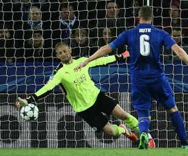 Puel has insisted that Schmeichel will not be leaving Leicester for the coming season. AFP